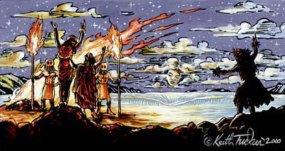 Goddess Mythology Painting - Homage To Hina The Hawaiian Moon Goddess by Keith Tucker