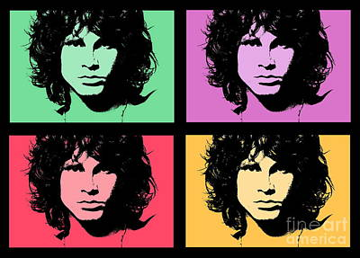 Photograph - Homage To Jim Morrison by Andrea Kollo