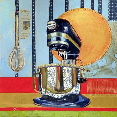 Saint Mixed Media - Homage To Julia by Jennie Traill Schaeffer