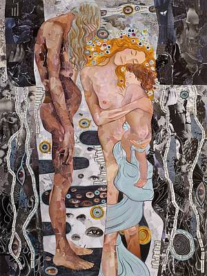 Painting - Homage To Klimt's Three Ages Of Woman by Sheri Howe