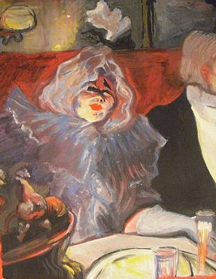 Painting - Homage To Lautrec In A Private Room At The Rat Mort by Michelle Deyna-Hayward