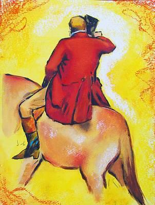 Homage To Master Degas The Horseman Art Print by Susi Franco