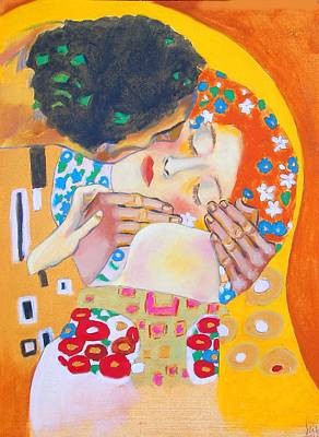 Homage To Master Klimt The Kiss Original by Susi Franco