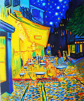 Homage To Master Van Gogh's Terrace At Arles Original by Susi Franco