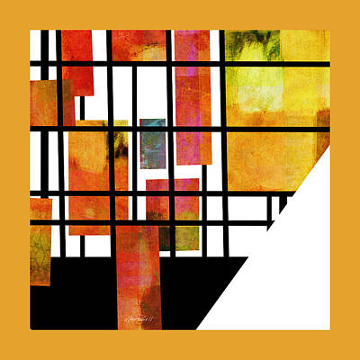 Digital Art - Homage To Mondrian Three by Ann Powell