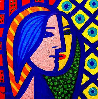 Glass Art Painting - Homage To Pablo Picasso by John  Nolan