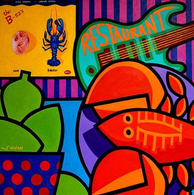 Lime Painting - Homage To Rock Lobster by John  Nolan