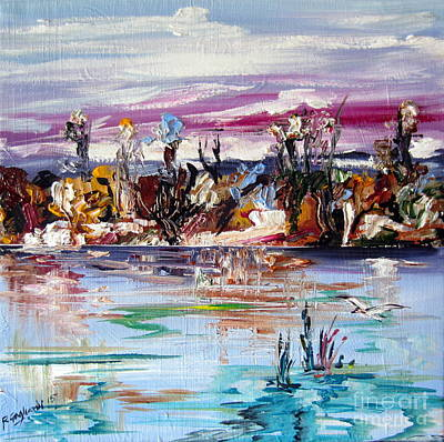 Painting - Homage To The Australian Billabong Subject by Roberto Gagliardi
