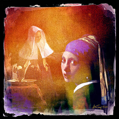 Photograph - Homage To Vermeer by Ann Tracy