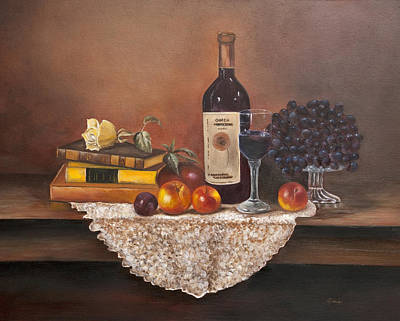 Glass Of Wine Painting - Home Alone by Gina Cordova