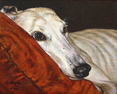 Greyhound Races Painting - Home At Last by Akiko Watanabe