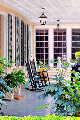 Veranda - Charleston, S C By Travel Photographer David Perry Lawrence Art Print