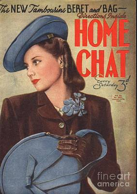 Home Chat 1940s Uk Womens Portraits Art Print by The Advertising Archives