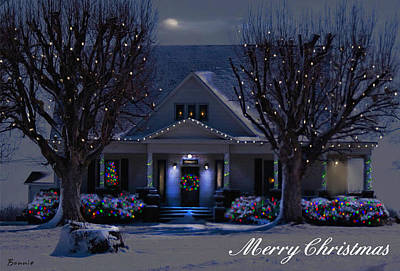 Art Print featuring the photograph Home For Christmas by Bonnie Willis
