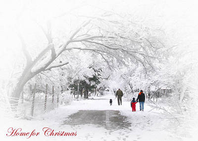 Photograph - Home For Christmas  by David and Carol Kelly