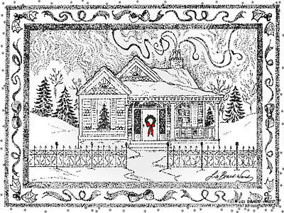 Drawing - Home For Christmas by Lizi Beard-Ward