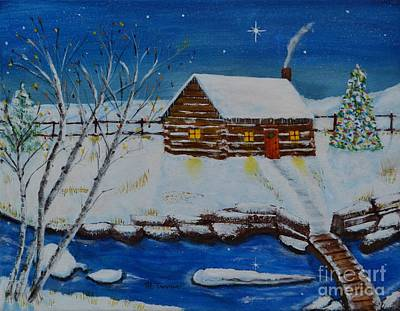 Painting - Cozy Christmas by Melvin Turner