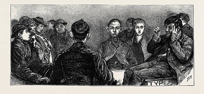Home For News-boys In The Metropolis Specimens Art Print by English School