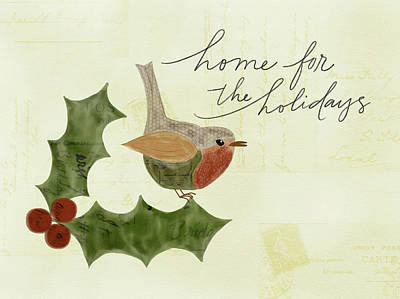 Home For The Holidays Art Print by Katie Doucette