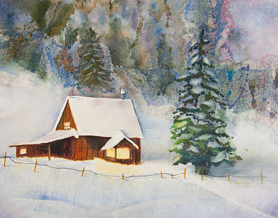 Featured Images Painting - Home For Xmas by Melanie Harman