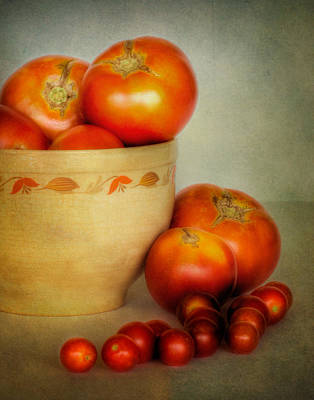 Photograph - Home Grown Tomatoes by David and Carol Kelly