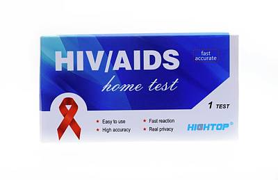 Acquired Photograph - Home Hiv Test by Cordelia Molloy