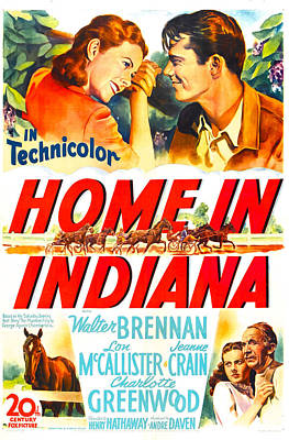 Home In Indiana, Us Poster, Top Art Print by Everett