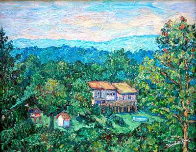 Home In The Hills Art Print by Kendall Kessler
