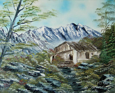 Home In The Mountains Original by Edward C Van Wicklen Sr