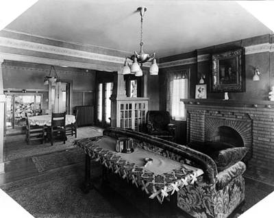 Photograph - Home Interior, C1917 by Granger