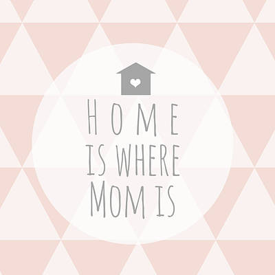 Day Painting - Home Is Where Mom Is by Anna Quach