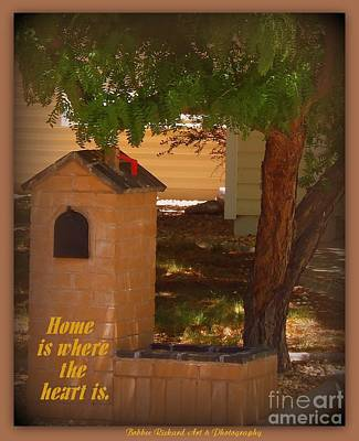 Photograph - Home Is Where My Mailbox Is by Bobbee Rickard