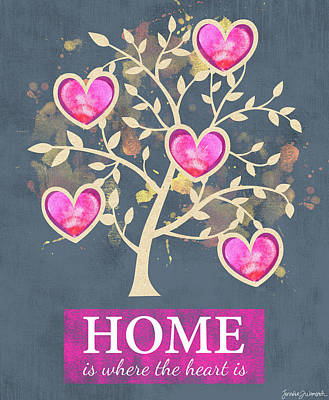 Home Is Where The Heart Is Art Print by Jennifer L. Wambach