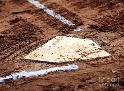 Baseball Art Photograph - Home Is Where The Heart Is by John Rizzuto