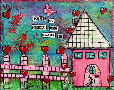 Painting - Home Is Where The Heart Is by Lauretta Curtis