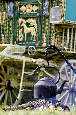 Gypsy Wagon Photograph - Home Is Where The Hearth Is by Tim Gainey