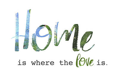 Family Love Painting - Home Is Where The Love Is by Pamela J