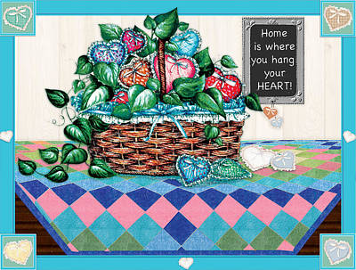 Home Is Where You Hang Your Heart Art Print