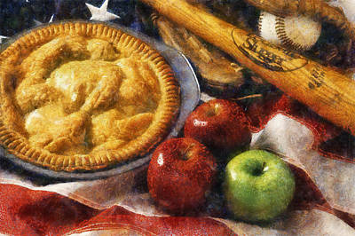 Home Made Apple Pie Art Print by Ian Mitchell