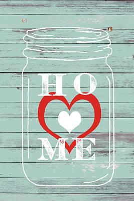Home Mason Jar Art Print