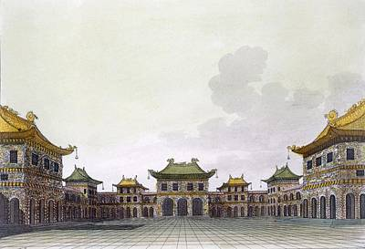 Home Of A Rich Individual In Peking Art Print by Italian School