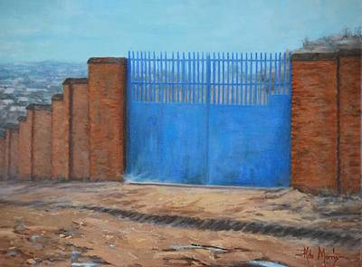 Mother Theresa Painting - Home Of Hope Orphanage Main Gate by Rita Morris