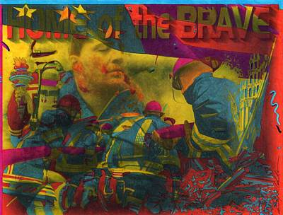 First Responders Wall Art - Painting - Home Of The Brave by Anthony Whelihan
