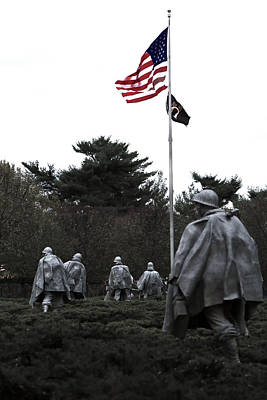 Korean War Memorial Photograph - Home Of The Brave by Mitch Cat