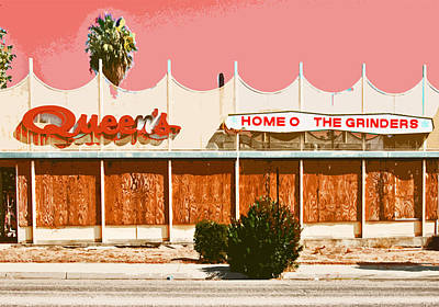 Old Drive In Photograph - Home Of The Grinders by Charlette Miller