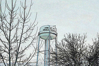 Photograph - Home Of The Missco Tigers- Colored Pencil Effect by KayeCee Spain