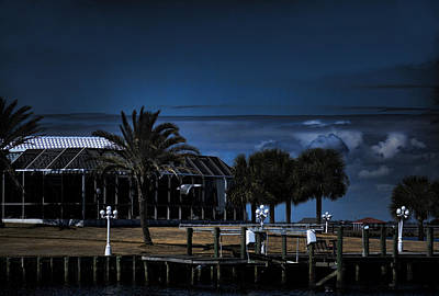 Photograph - Home On The Bay At Night by Cathy Jourdan
