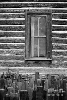 Old Log Cabin Photograph - Home On The Range by Edward Fielding