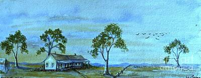 Australian Open Painting - Home On The Range by Leanne Seymour