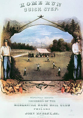 Home Runs Painting - Home Run Quick Step, 1861 by Granger